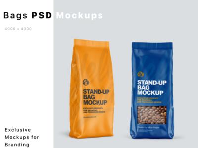 Stand-up Bags Mockups mock up logo mockup design package mockupdesign pack visualization mockup design 3d