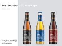 Beer Bottles Mockups PSD mock up logo mockup design package pack mockupdesign visualization mockup design 3d