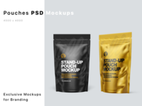 Stand-up Pouches Mockups PSD logo mock up mockup design package pack mockupdesign visualization mockup design 3d