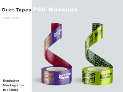 Duct Tapes Mockups PSD mock up logo package pack mockupdesign visualization mockup design 3d
