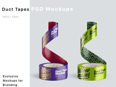 Duct Tapes Mockups PSD mock up logo package pack mockupdesign visualization mockup design 3d