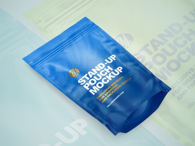 Stand-Up Pouches Mockups PSD mock up smartobject logo package pack mockupdesign visualization mockup design 3d