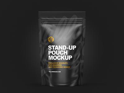 Stand-up Pouch Mockup mock up logo mockup design package pack mockupdesign visualization mockup design 3d