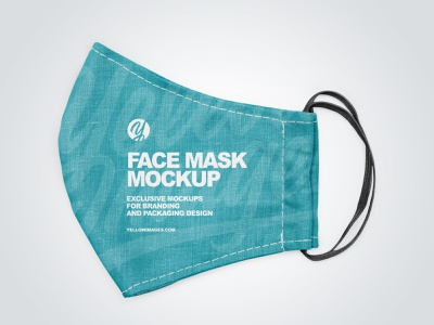Face Mask Mockup PSD visualization mockup design logo mask branding mock up coronavirus facemask covid19 mockup design 3d