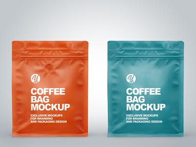 Matte Coffee Bags Mockups PSD illustration mock up branding pack package mockupdesign visualization mockup design 3d