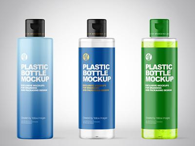 200 ml Cosmetic Bottles Mockups PSD cosmetic labeldesign branding logo package pack mockupdesign visualization mockup design 3d