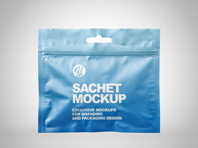 Sachet with Zip Lock Mockup PSD label design branding package pack mockupdesign visualization mockup design 3d