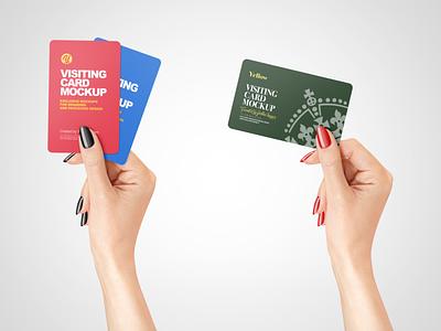 Business Card in a Hand Mockup PSD branding label design logo illustration mockupdesign visualization mockup design 3d