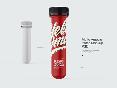 Ampule Plastic bottle Mock-up