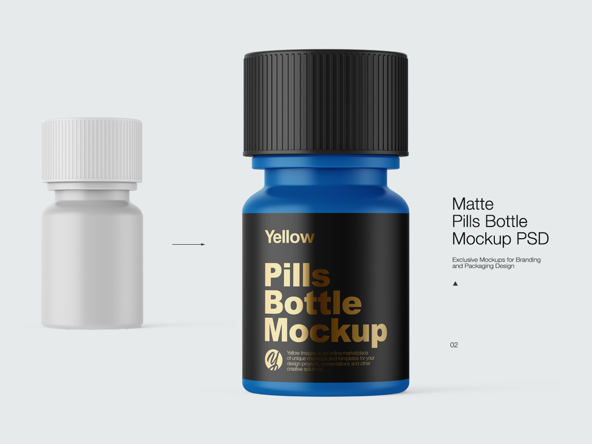 Pills Bottle Mock-up by Andrey Gapon on Dribbble