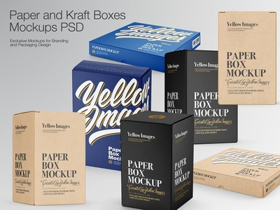 Boxes Mockups