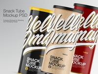Snack Tube Mockups