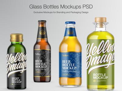 Glass Bottles Mockups