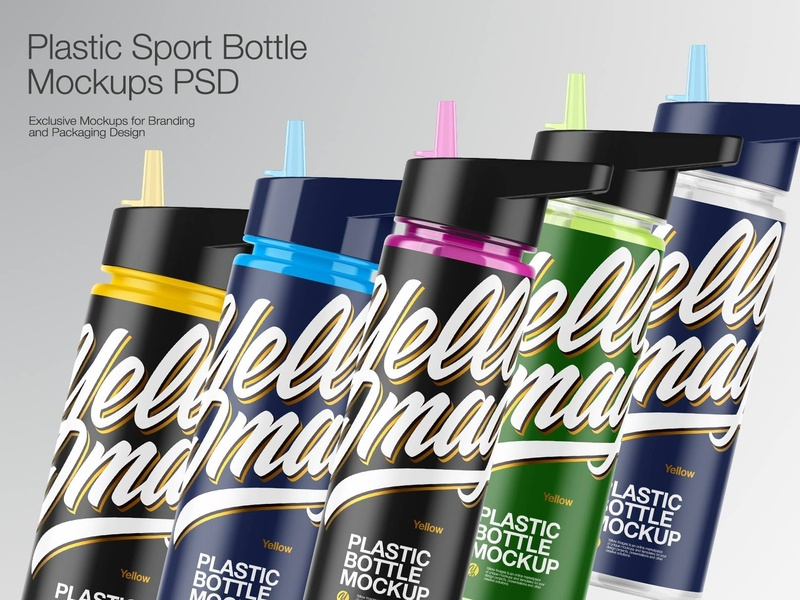 Plastic Sport Bottle Mockup vector branding bottle label bottle design real bottle 3d bottle icon mockupdesign package mock-up logo visualization pack mockup design mock up mockup illustration design 3d