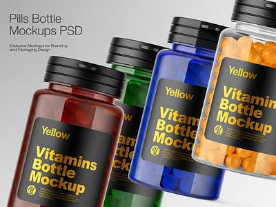 Plastic Pills Bottle branding smartobject bottle label bottle design real bottle 3d bottle icon mockupdesign package mock-up logo visualization pack mockup design mock up mockup illustration design 3d