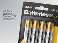 Batteries AA Pack Mockup
