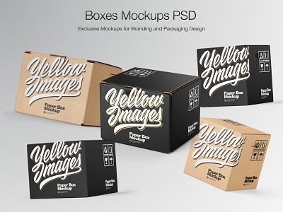 Boxes Mockups PSD boxlabel boxdesign branding design mock-up real branding package mockupdesign logo visualization pack mockup design mock up mockup illustration design 3d