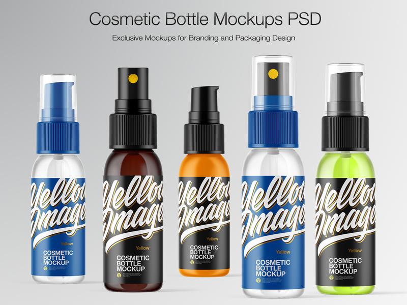 Cosmetic Spray Bottle Mockup pack mockupdesign logo visualization mockup design mock up mockup illustration design 3d