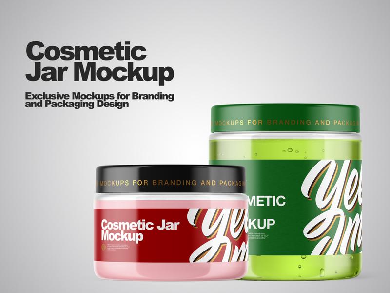 Cosmetic Jar Mockup branding design branding pack mockup design mock up mockupdesign visualization mockup design 3d