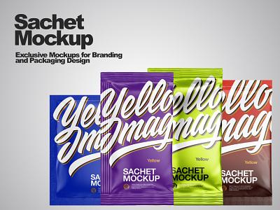 Sachets Mockups PSD smartobject mock-up mockup design branding package pack mockup visualization design 3d