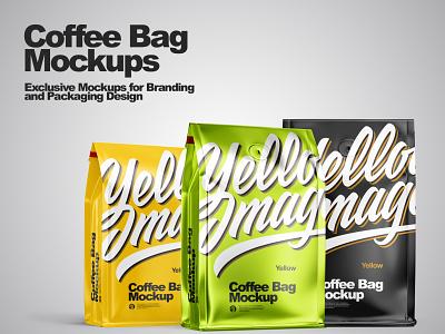 Coffee Bag Mockups branding label labeldesign smartobject package mockupdesign pack visualization mockup design 3d