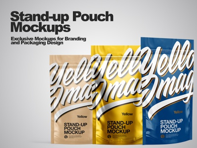 Stand-up Pouch Mockup PSD smartobject real package mockup design mockupdesign pack visualization mockup design 3d