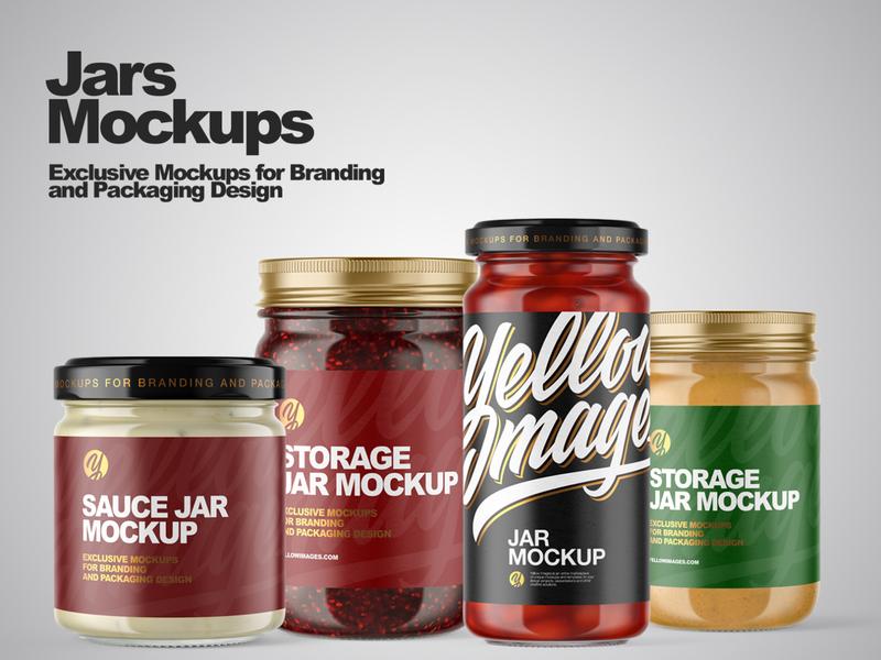 Storage Jars Mockups logo package mock up mockup design mockupdesign pack visualization mockup design 3d
