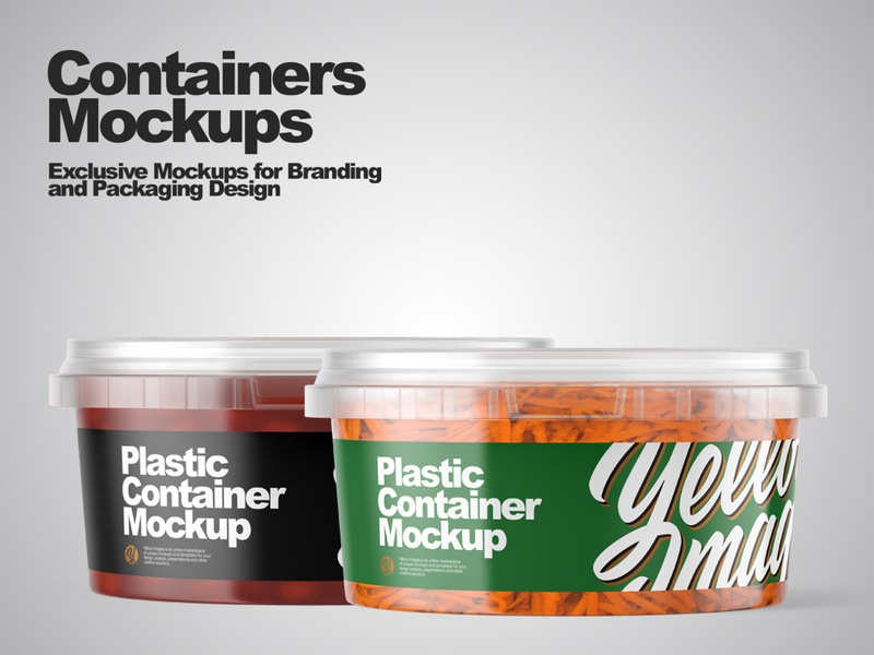 Containers Mockups branding smartobject package mockup design mockupdesign pack visualization mockup design 3d