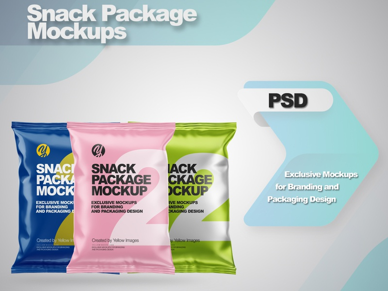 Snack Package Mockups smartobject logo package mockup design mockupdesign pack visualization mockup design 3d
