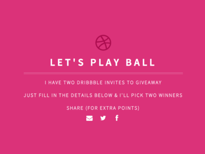 Let's play ball - Dribbble invite giveaway dribbble invite giveaway draft prospects