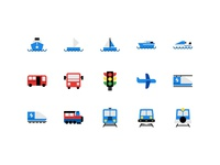 Public Transportation Icon-Set