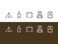 Camping Tool Icon-Set