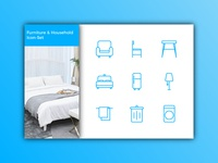 Furniture and Household Icon-Set