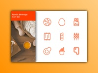 Food and Beverage Icon-Set