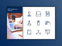 Office Stationery Icon-Set