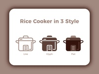 Rice Cooker in 3 Style