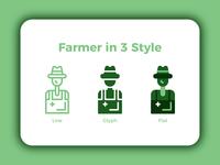 Farmer in 3 Style 👨🌾