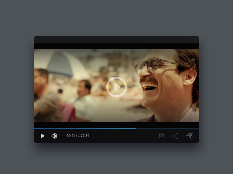 Day 57 - Video player app development ui ux video player ui