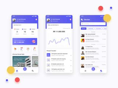 Doctor - Mobile App clean visual design exploration doctor blue minimal simple ux design ui design ux uiux ui ios app ios android app android