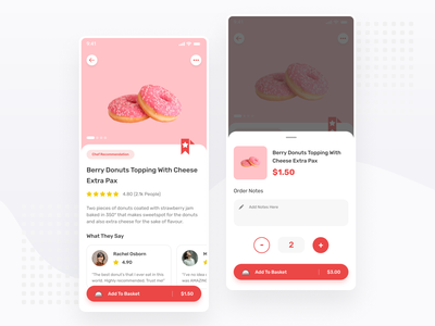 Restaurant App Exploration | Product Details - Mobile App ux ui app icon ecommerce ios android product detail order restaurant simple minimal ux design ui design mobile app