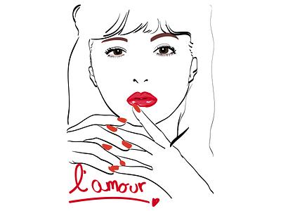 l'amour vivigirls japanese fashion drawing digital sketch magazine lamour french-girl