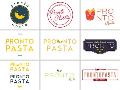 Pronto Pasta re-branding fresh healthy pronto pasta fast food logo modern italian brazilian typography branding