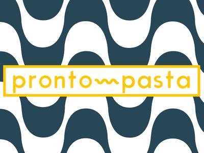 Pronto Pasta logo branding typography brazilian italian modern logo food fast pasta pronto healthy fresh