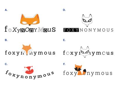 Logo concepts for Foxynonymous foxynonymous logo typography slab-serif fox branding