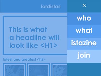 Fordistas site redesign concept typography web material-design navigation fordistas futura