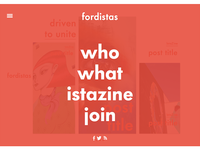 Fordistas | Hover Nav concept