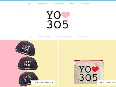 Yolove305 e-shop yoamo305 local shop e-commerce