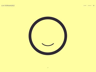 Lia Fernandez   Site launch liafernandez portfolio newsite sitelaunch graphicdesign yellow typography brandon ux ui minimal