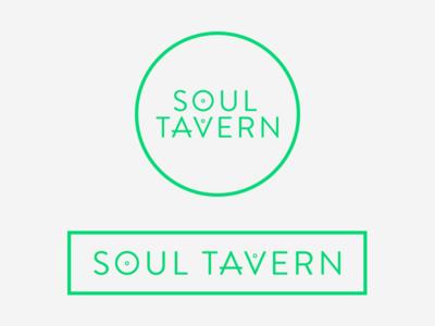 Soul Tavern  elements green brand identity logo vegan gastropub tavern brandon-grotesque alchemy