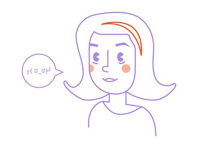 ┌( ಠ_ಠ)┘ line character vector personal icon illustration selfie avatar